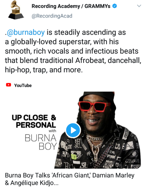Burna Boy Steadily Ascending As A Globally-loved Superstar