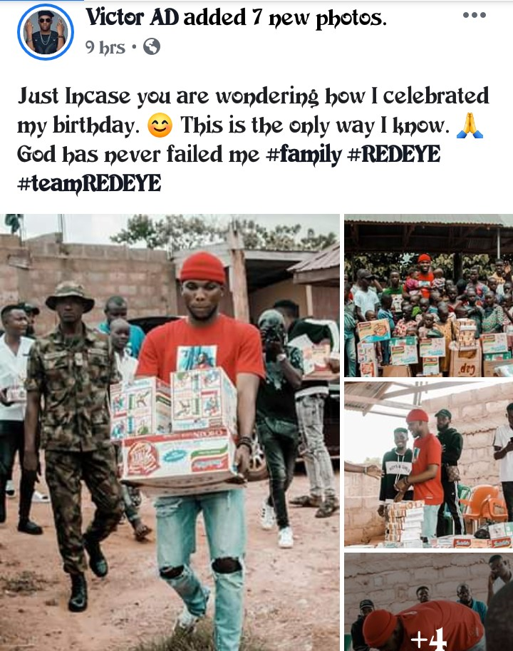 Wetin We Gain Crooner Celebrates His Birthday With The Less Privileged