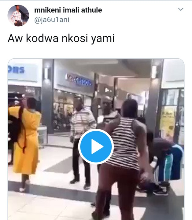 South African Woman Drops Her Baby On The Floor To Beat