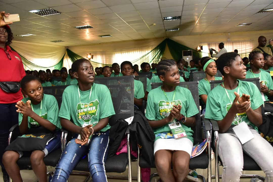 Image result for 250 Girls benefit from Ondo Boot Camp