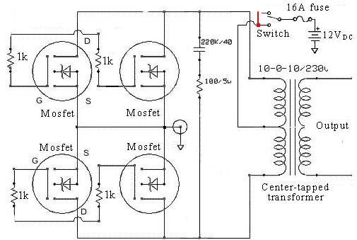 Free Dc Ac Power Inverter SOLAR POWER TRAINING MFM AIRWAYS - Circuit diagram of an inverter