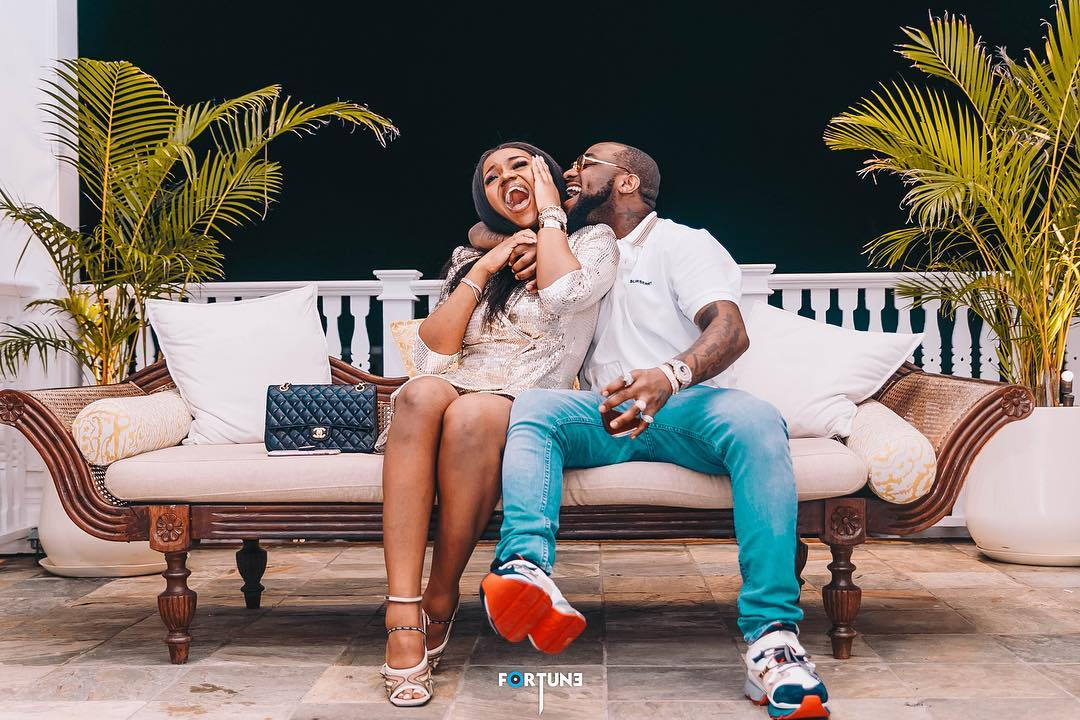 """Hate Y'all"" Davido Girlfriend Chioma Denies Pregnancy Rumour"