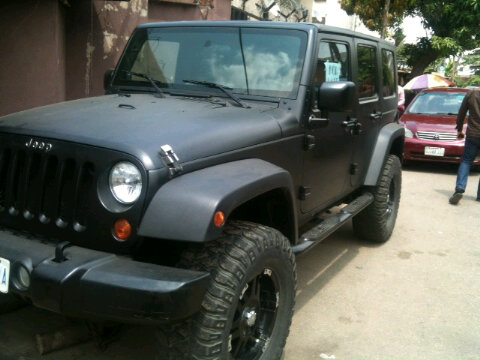 very neat matte black 08 wrangler jeep for sale autos nigeria. Black Bedroom Furniture Sets. Home Design Ideas