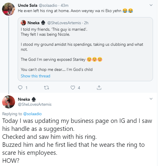 Nigerian Lady Exposes Married Man Pestering Her For Sex And Relationship