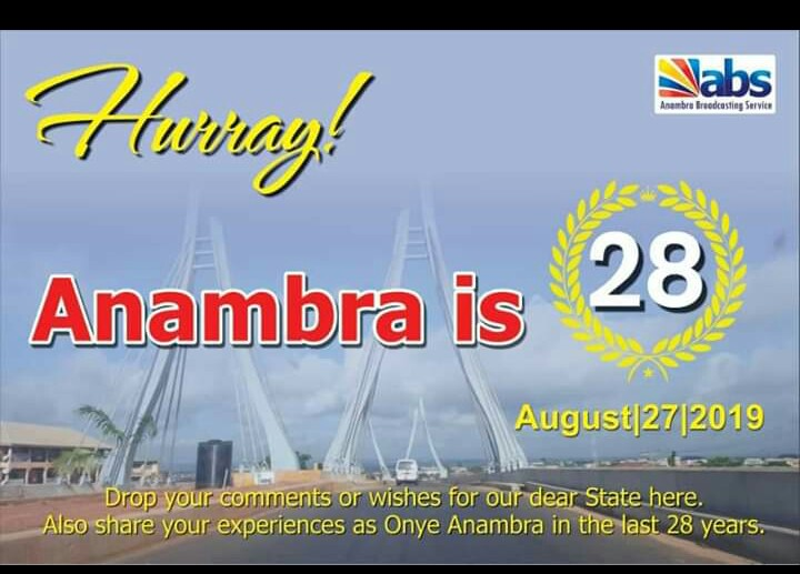As Anambra Clocks 28 Years Today, See Aerial View Of State