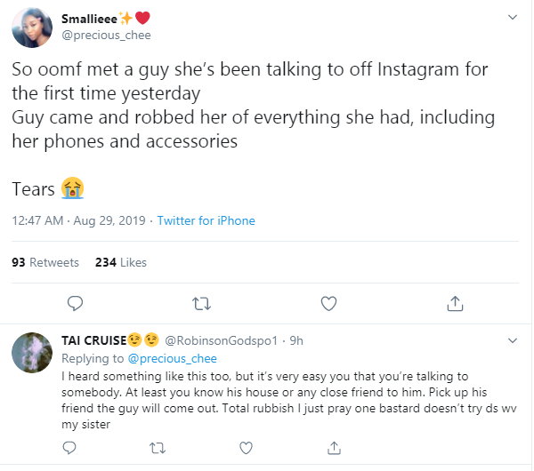 Nigerian Lady Robbed By Man She Met On Instagram  PHOTOS