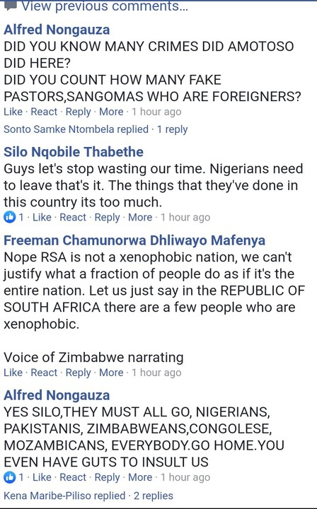 Nigerians Must Go - South Africans Say On Facebook
