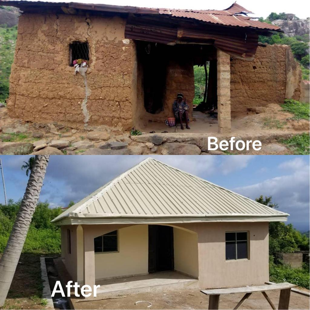 Rashida Yahaya Bello Builds House For An Aged Woman (Photos)