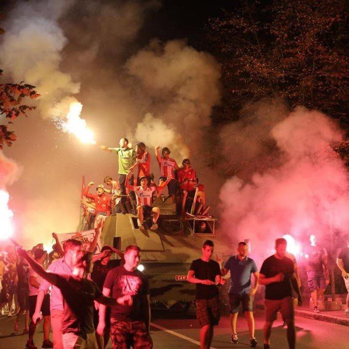 Champions League Qualifiers 2019: Red Star Belgrade Ride Army Tank To Celebrate Champions
