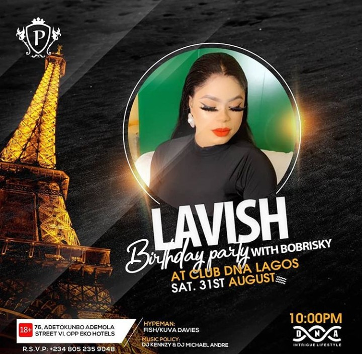 Image result for Police Shutdown The Venue Of Bobrisky 27th Birthday In Lekki, Bobrisky Runs