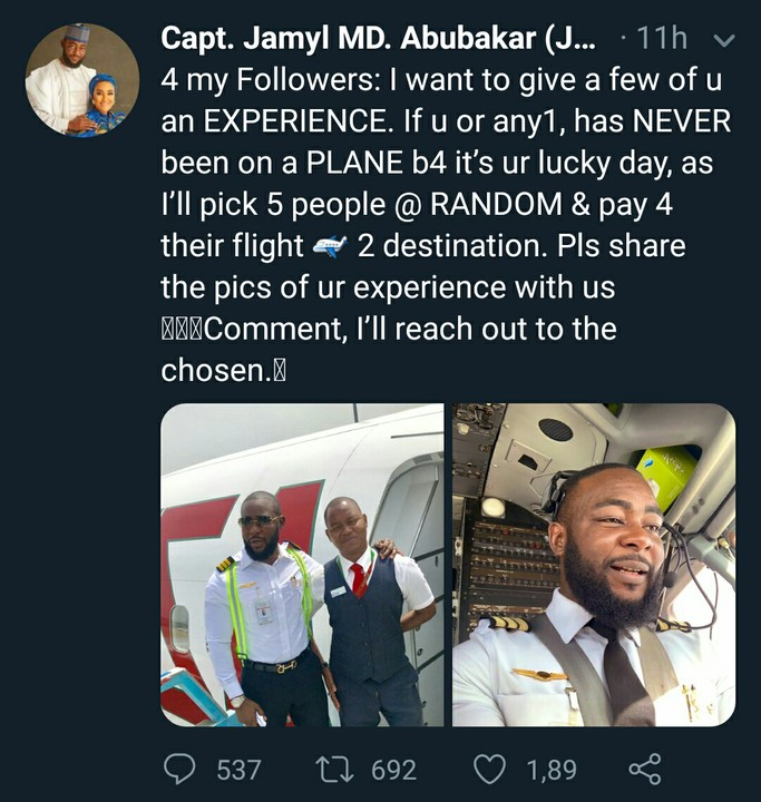 Husband of Dangote's Daughter, to pay flight ticket for 5 people who have never been on plane before