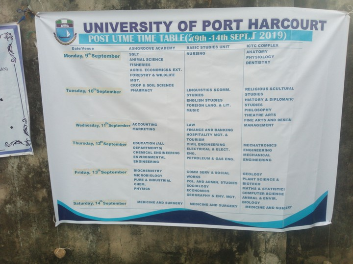 Updated Date For Uniport 2019 Post Ume Screening Exams [photos]