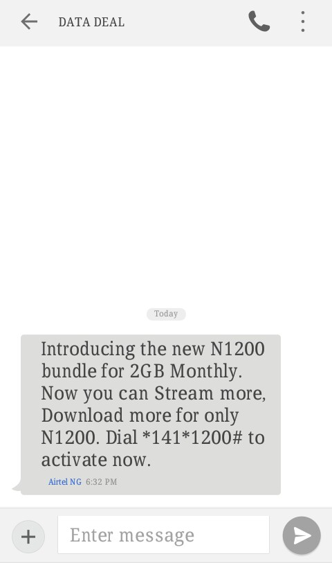 Airtel Introduces New Monthly Data Bundle, #1200 for 2GB