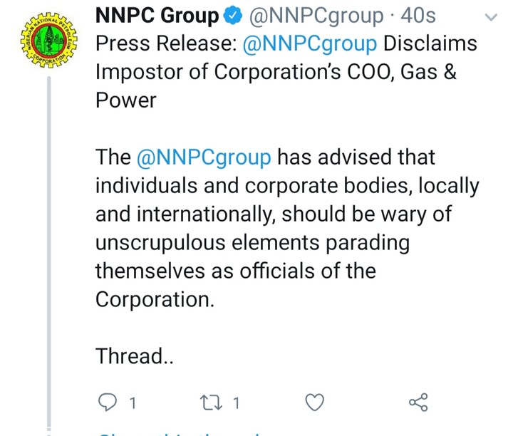 See how Fake NNPC Officials Try To Swindle A UK Oil And Gas Company in Abuja