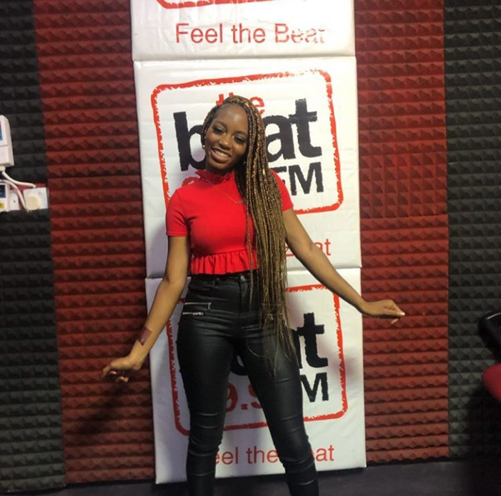Bbnaija: Khafi Begins Media Tour After Her Eviction (photos)