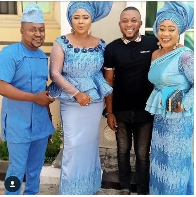 "We Are A Happy Family"": Actor Segun Ogungbe Hangs Out With His 2 Wives (Photos)"