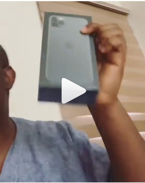 Don Jazzy Excited As He Receives His Iphone 11