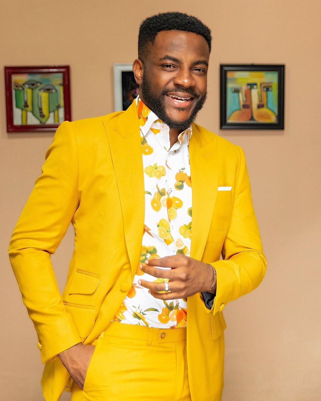 BBNaija Host, Ebuka Share Pictures Of His Appearance This Morning