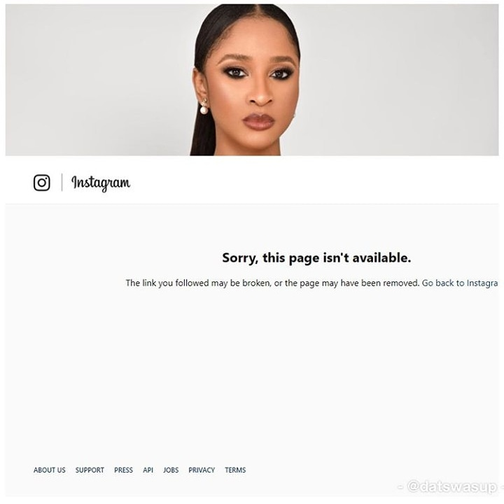 Image result for Adesua Etomi Deletes Her Instagram Page