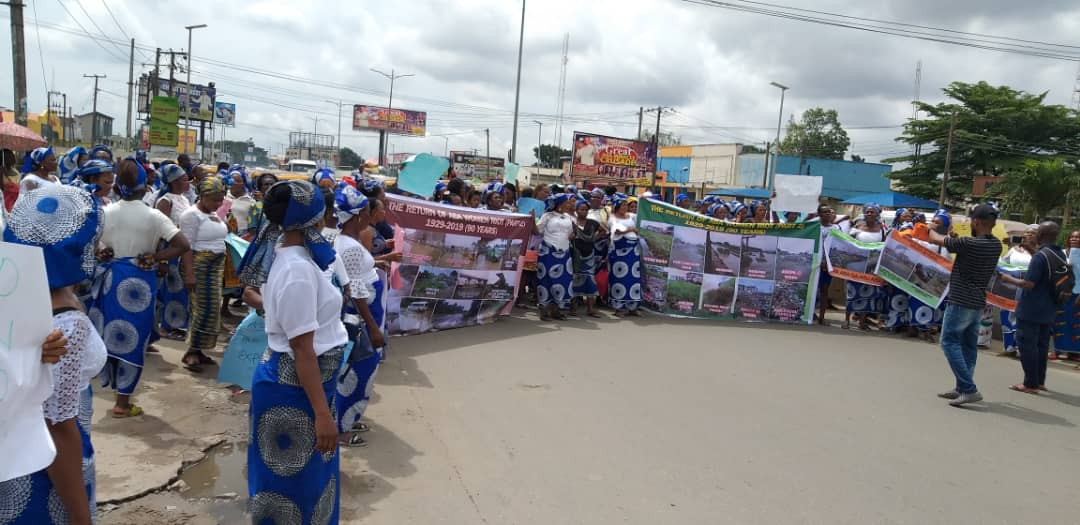 BREAKING: Protest Rocks Aba, As Women Protest Against