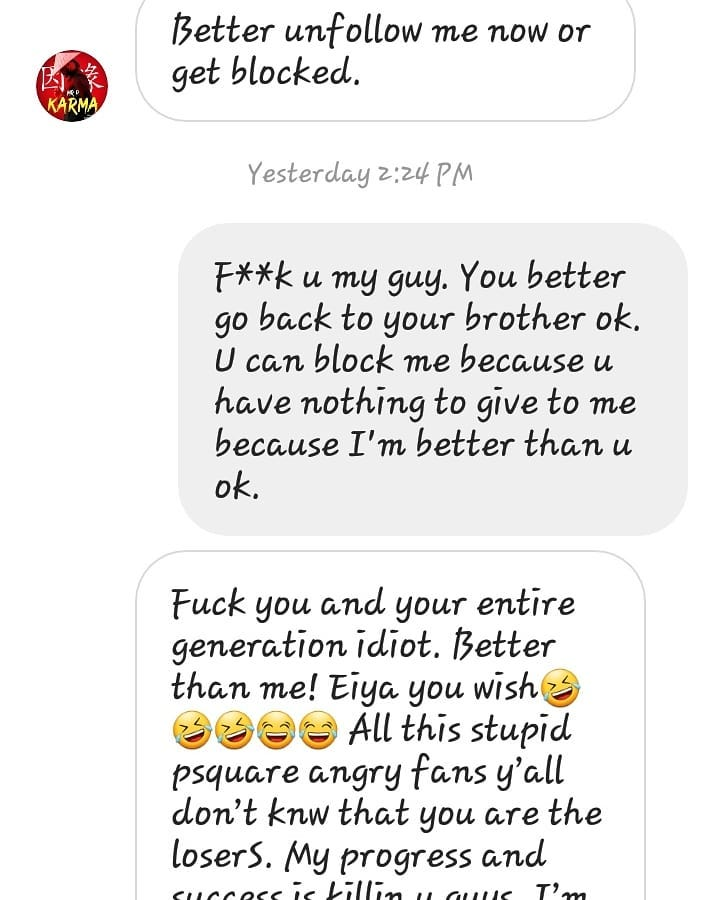 'I'm Better Than You' - Fan Fires Back At Peter Okoye « 3