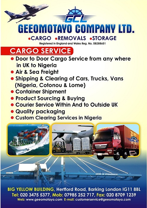 Cargo Companies From London Uk To Nigeria Adverts Nigeria