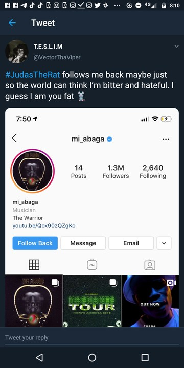 Vector Leaks MI Abaga's Chat With Him (screenshots)