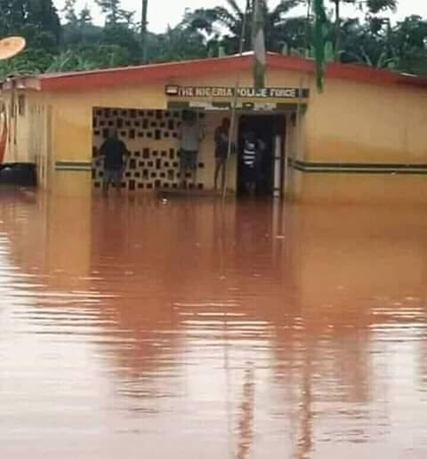 Police Station Flooded After Rainfall: Nigerians React