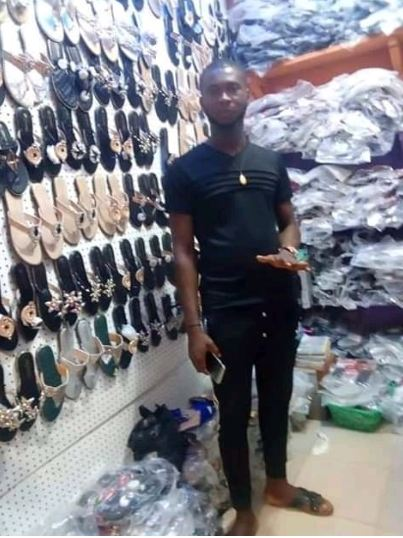 Sad Photos Show A Young Man's Shop Before And After The Onitsha Fire