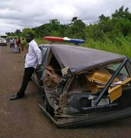 Truck Rams Into A Hearse In Benue State [Photo]