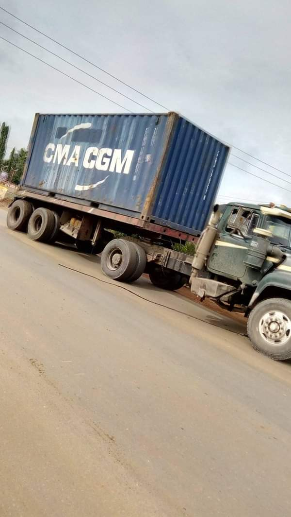Lady Crushed To Death In Anambra Accident Between Truck & Keke (Graphic) 5