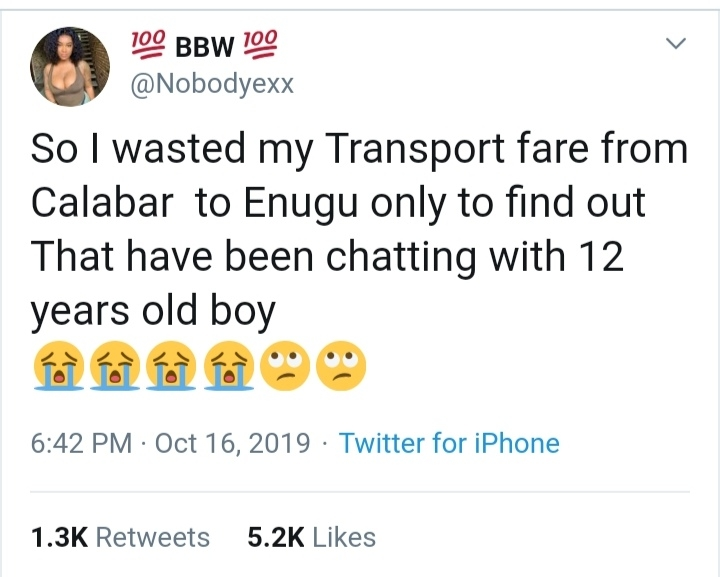 Chia! So i Left Calaber to Enugu to see my Date only for me to Meet This 12 Years Boy 2