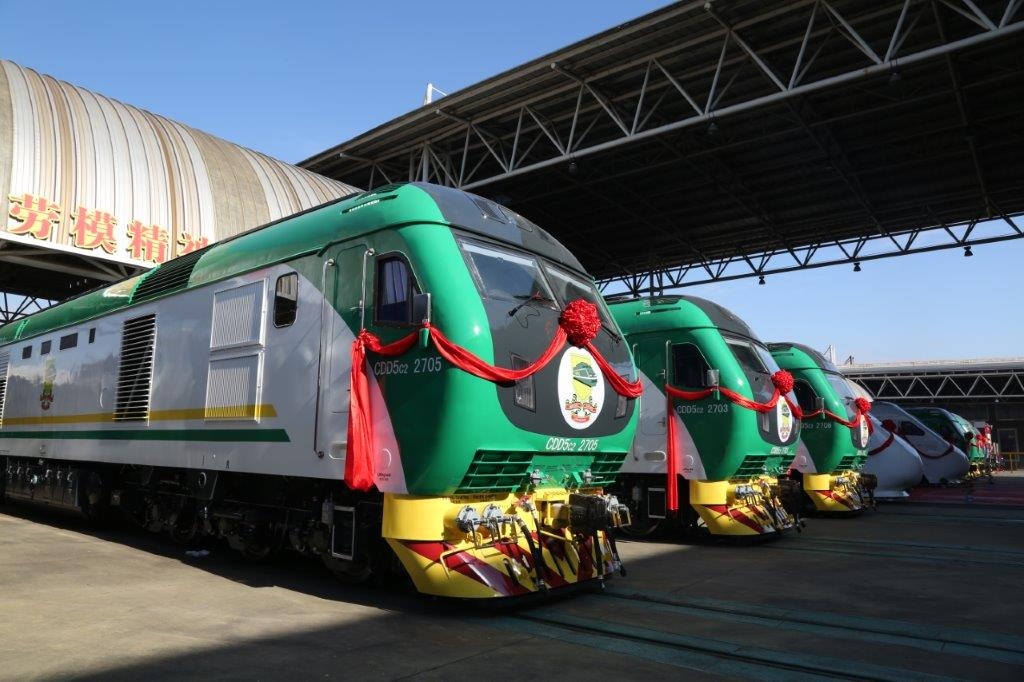 Amaechi Takes Delivery Of New Trains In China