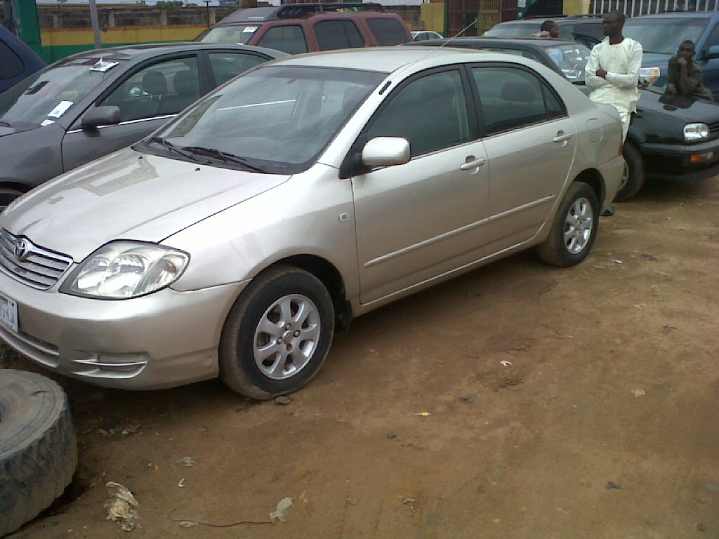 a registered toyota corolla for sale 2002 model autos nigeria. Black Bedroom Furniture Sets. Home Design Ideas