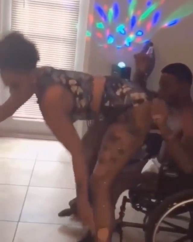 Gorgeous Lady Twerks For Man In Wheelchair. See Reactions (Photos)