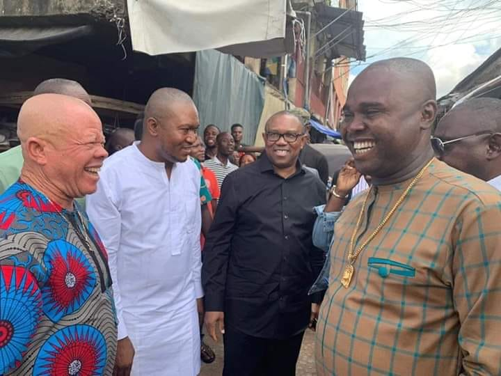 Caption This Photo Of Peter Obi Laughing At Scene Of Onitsha Fire Incident