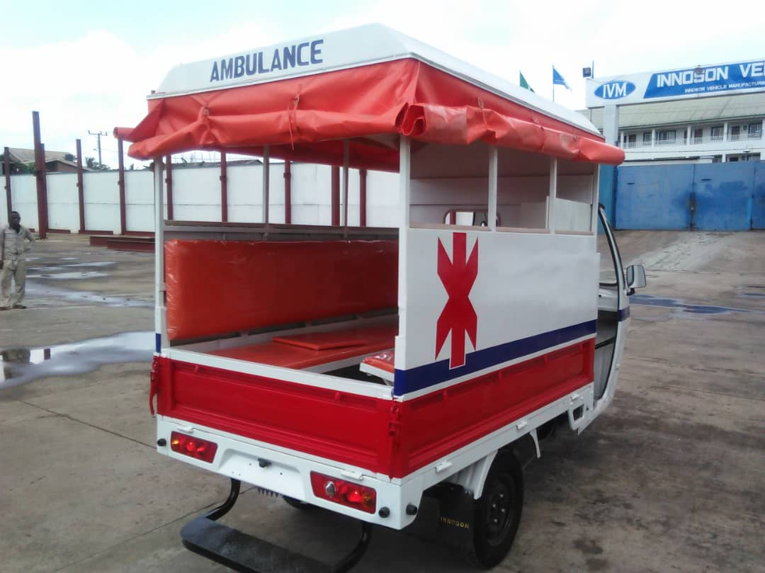 Innoson Motors Unveils First Made In Nigeria Tricycle Ambulance
