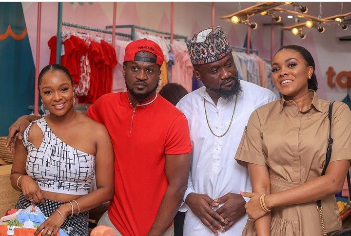Paul And Jude Okoye Pose With Their Wives At An Event