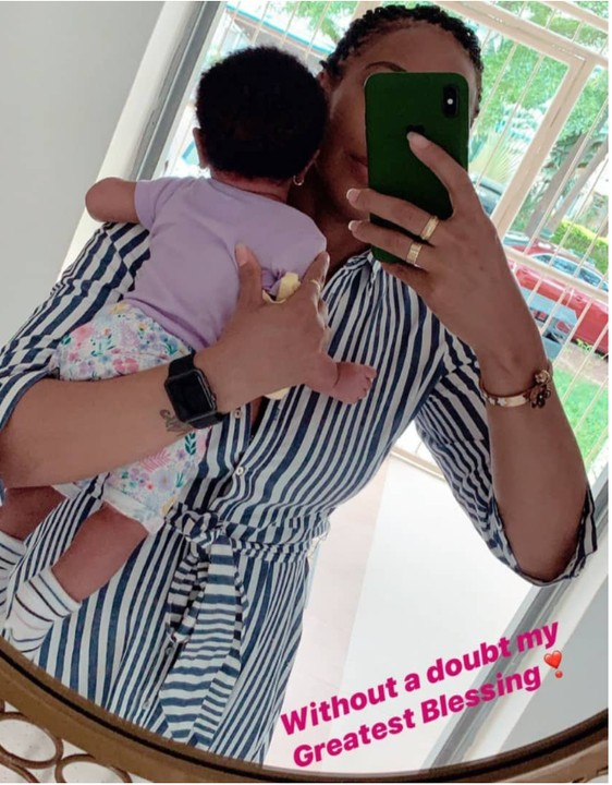 Tboss Shares Cute Photo With Her Daughter