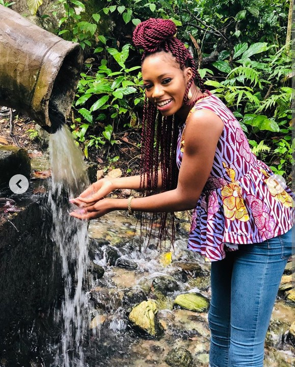Khafi Visits Ikogosi Warm Spring, Where Warm & Cold Water Meet At A Point