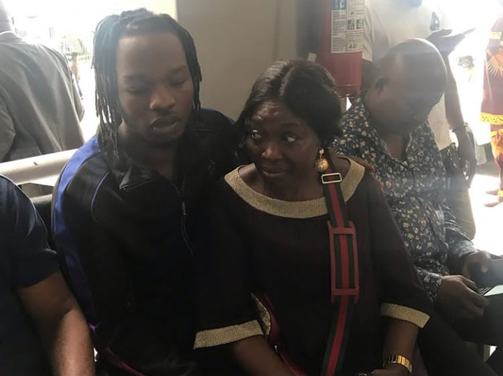 Naira Marley With His Mother At The High Court In Ikoyi - Celebrities