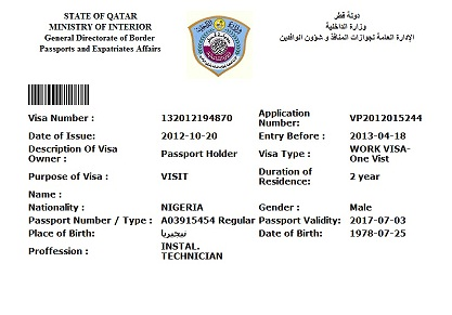 Travel To Qatar Made Easy For Only N500k Work Visa