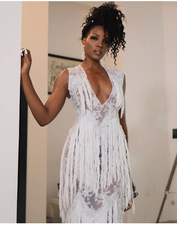 Seyi Shay Rock Open Chest Outfit To An Event