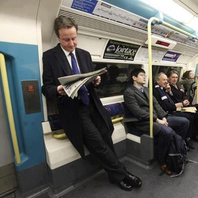 David Cameron Standing In A Public Train (Pictures ...