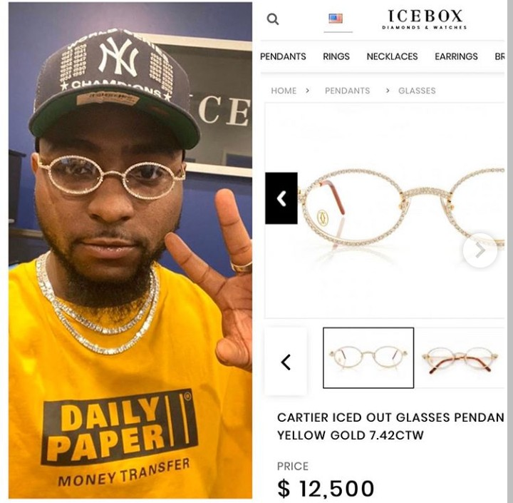 Davido Wore N4.5 Million Glasses To His Son's Naming Ceremony (Photos) -