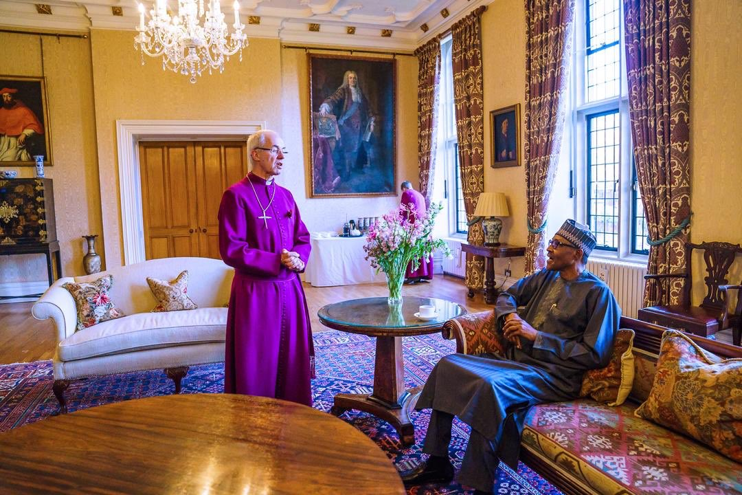 President Buhari Pictured With Archbishop Of Canterbury, Justin Welby