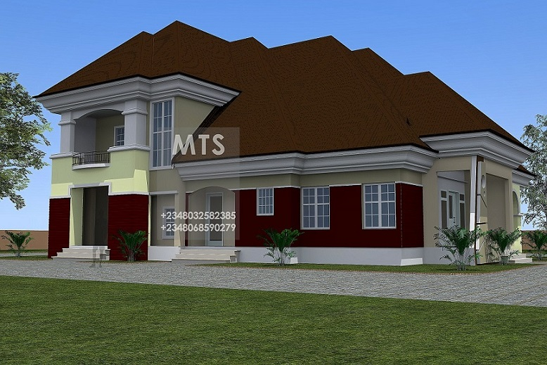 Samples of medium class duplex in nigeria for Modern duplex house plans in nigeria
