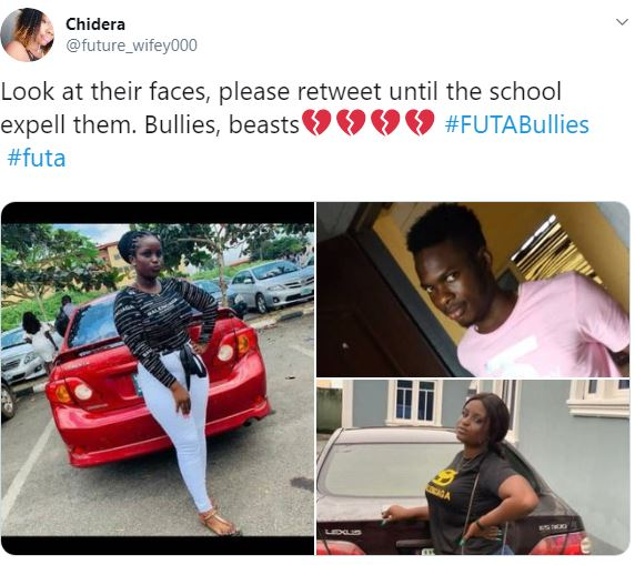 Photos Of The Five Futa Students Who Beat Up A Female Student