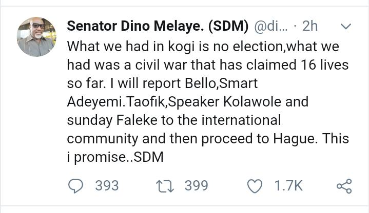 Kogi Election: Dino Melaye Heads To International Court Of Justice At The Hague