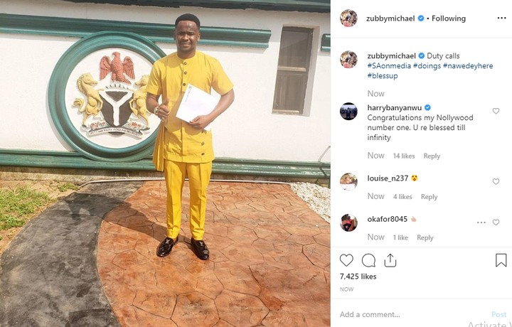 Actor Zubby Michael Appointed Special Adviser On Media By Governor Obiano